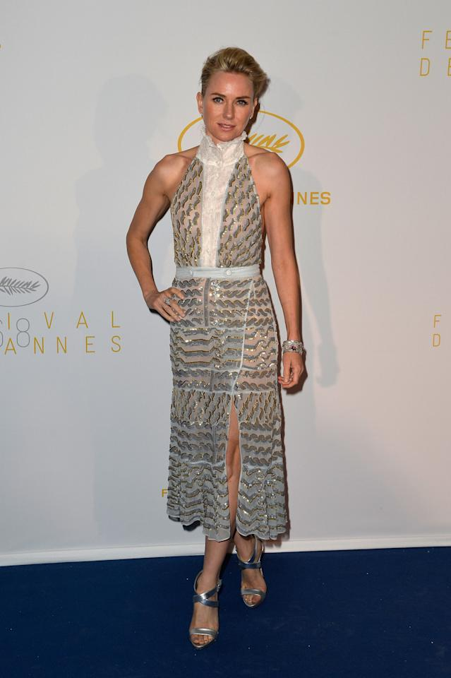 <p>The actress looked stunning in an embellished slit dress by Joseph Altuzarra when she arrived at the Annual Cannes Film Festival Opening Ceremony.<br /><br /></p>