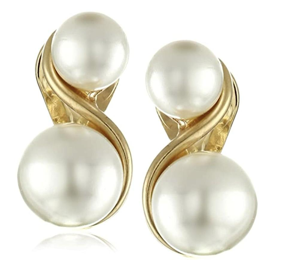 <p>These <span>Anne Klein Faux Pearl Clip-On Earrings</span> ($16, originally $18) will be the perfect finishing touch to a slip dress ensemble.</p>