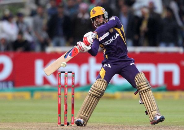 CAPE TOWN, SOUTH AFRCA - OCTOBER 21:  Manoj Tiwary of the Kolkata Knight Riders in action during the Champions league twenty20 match between CLT20 Kolkata Knight Riders v Nashua Titans at Sahara Park Newlands on October 21, 2012 in Cape Town, South Africa. (Photo by Carl Fourie / Gallo Images/Getty Images)