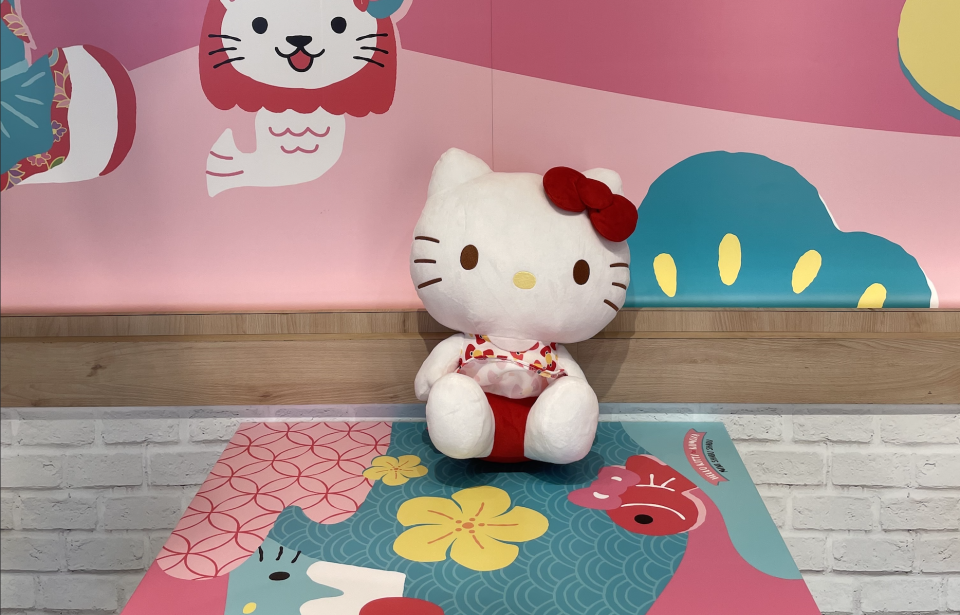 Hello Kitty Plushie that's not for sale, but there are other collectables that are! (Photo: Stephanie Zheng)
