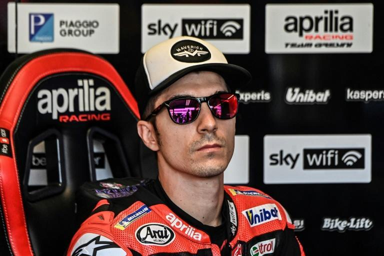 Aprilia's Maverick Vinales will miss the race in Austin following the death of his cousin last weekend (AFP/ANDREAS SOLARO)