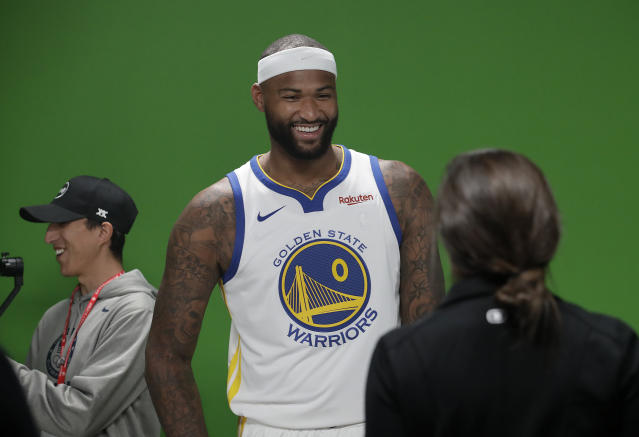 DeMarcus Cousins' return will shuffle up an already muddled front-court battle on the Warriors. (AP Photo)