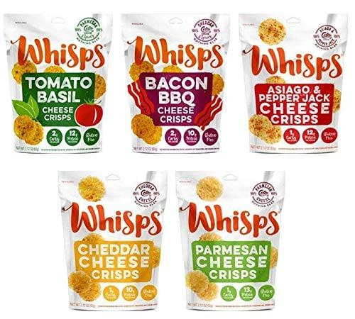 "<p>Can't pick a favorite flavor? Well, with these <a href=""https://www.popsugar.com/buy/Whisps-Cheese-Crisps-100-Cheese-Crunchy-Assortment-479375?p_name=Whisps%20Cheese%20Crisps%20100%25%20Cheese%20Crunchy%20Assortment&retailer=amazon.com&pid=479375&price=20&evar1=fit%3Aus&evar9=46493750&evar98=https%3A%2F%2Fwww.popsugar.com%2Ffitness%2Fphoto-gallery%2F46493750%2Fimage%2F46493896%2FWhisps-Cheese-Crisps-100-Cheese-Crunchy-Assortment&list1=shopping%2Camazon%2Chealthy%20snacks%2Csnacks%2Clow-carb%2Cketo%20diet&prop13=api&pdata=1"" rel=""nofollow"" data-shoppable-link=""1"" target=""_blank"" class=""ga-track"" data-ga-category=""Related"" data-ga-label=""https://www.amazon.com/Whisps-Cheese-Crisps-Crunchy-Assortment/dp/B07D5JGVN6/ref=sr_1_4?crid=HM03H6XAJJ9T&amp;keywords=keto+snacks&amp;qid=1565705256&amp;s=gateway&amp;sprefix=keto+sn%2Caps%2C140&amp;sr=8-4"" data-ga-action=""In-Line Links"">Whisps Cheese Crisps 100% Cheese Crunchy Assortment</a> ($20, originally $25 for 5), you don't have to.</p>"