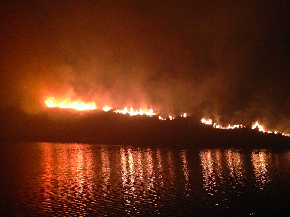 The fire stretched for up to 6km at one point (Picture: PA)