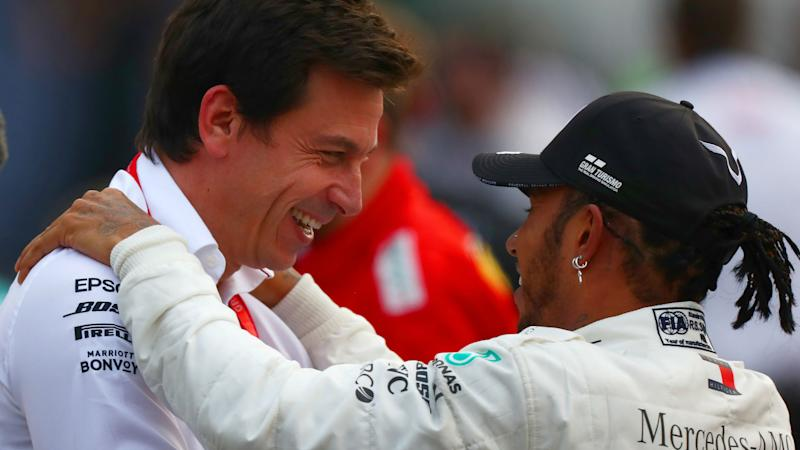 Hamilton and Wolff relaxed over F1 champion's Mercedes future amid 'crazy' speculation
