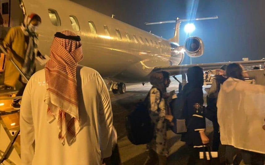 The operation saw the UAE welcome 41 evacuees from Afghanistan