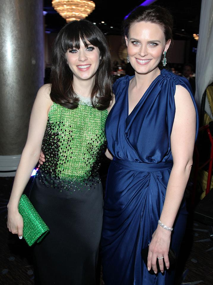 """The Deschanel sisters are ruling the FOX network right now; Zooey received a Golden Globe nomination for her lead role in hit sitcom """"New Girl,"""" and big sis Emily stars in """"Bones,"""" now in its eighth season."""