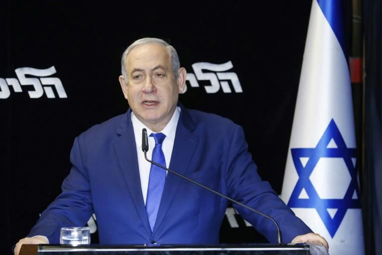 Israeli Prime Minister Benjamin Netanyahu was expected to beat rival Gideon Saar but the convincing margin of victory strengthened his position in the party he has dominated for 20 years (AFP Photo/Jack GUEZ )
