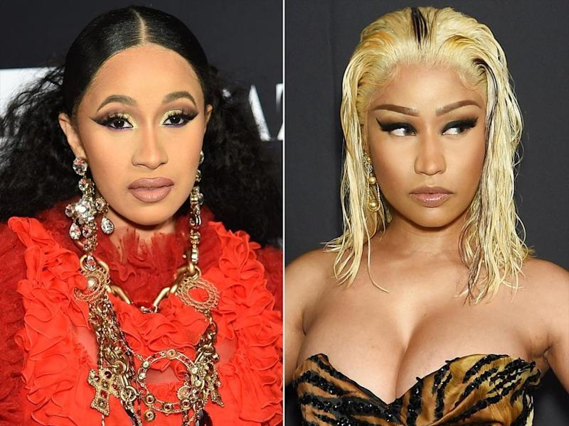Cardi B (left) and Nicki Minaj
