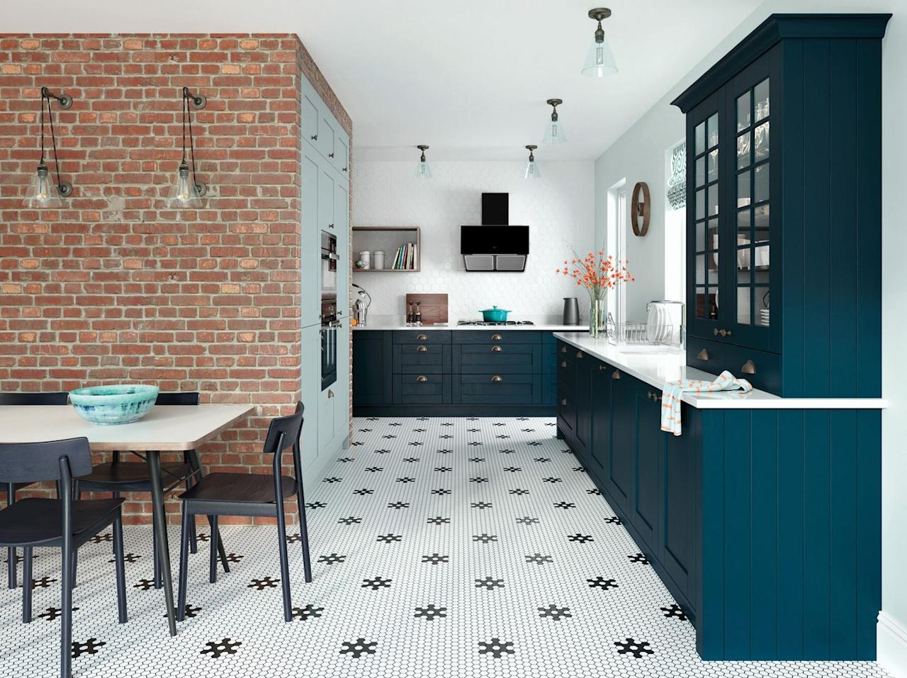 "<p>Create a statement in your kitchen with bold, vibrant hues. Whether you opt for midnight-sky blue or daringly dark olive green, statement kitchen cabinets are simple ways to create an Instagram-worthy look. Use pared-back, neutral tiles, such as whites and creams, to balance out a daring colour palette. Make your kitchen look fabulous. </p><p>'Darker images tend to be noticed more on Instagram so a darker, richer colour such as blue to anthracite can make your kitchen look more striking,' Doug Haswell from <a href=""https://www.caple.co.uk/products/kitchens/"" target=""_blank"">Caple Kitchens</a> explains. <br><br>If you don't have the budget or means for a complete kitchen overhaul, why not up-cycle your kitchen cabinets with a fresh lick of paint? Simply sand them down and find the right colour for you. </p>"