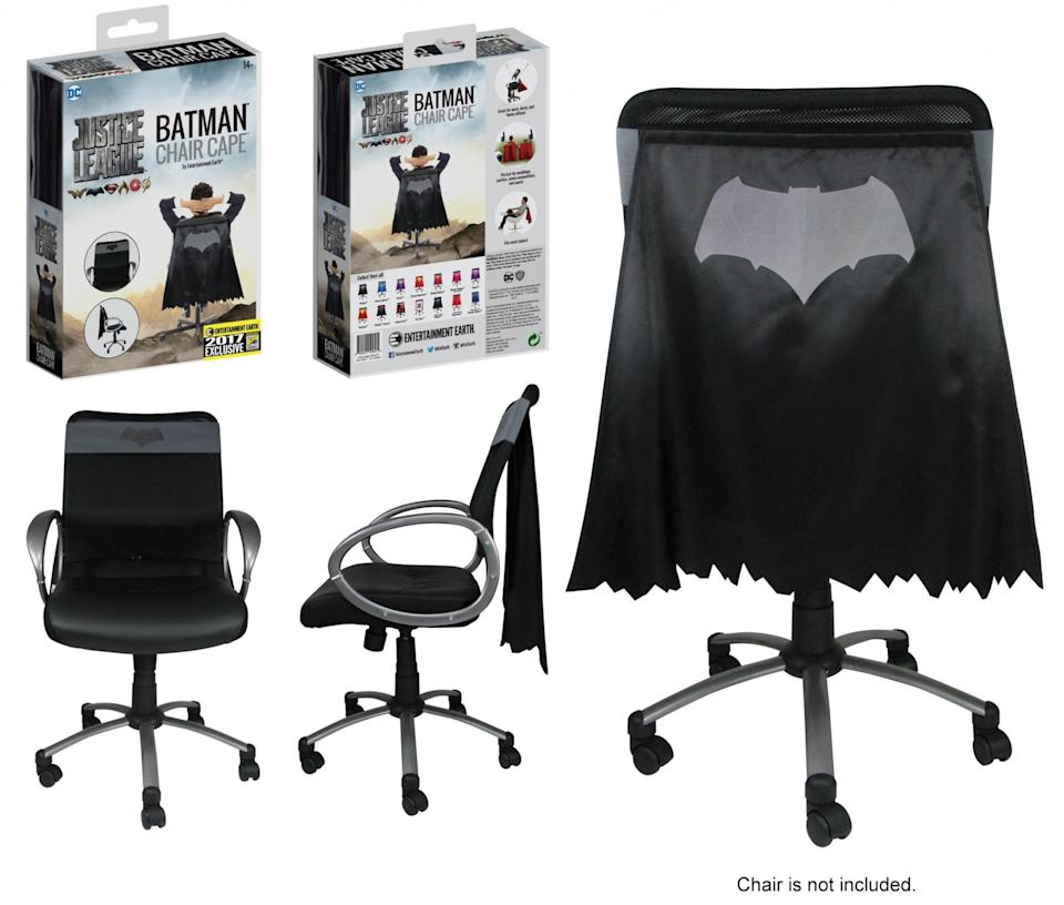 """<p>Your office furniture never felt so heroic. There's also a <a rel=""""nofollow"""" href=""""https://www.yahoo.com/movies/tagged/superman"""" data-ylk=""""slk:Superman"""" class=""""link rapid-noclick-resp"""">Superman</a> version. (Photo: Entertainment Earth) </p>"""