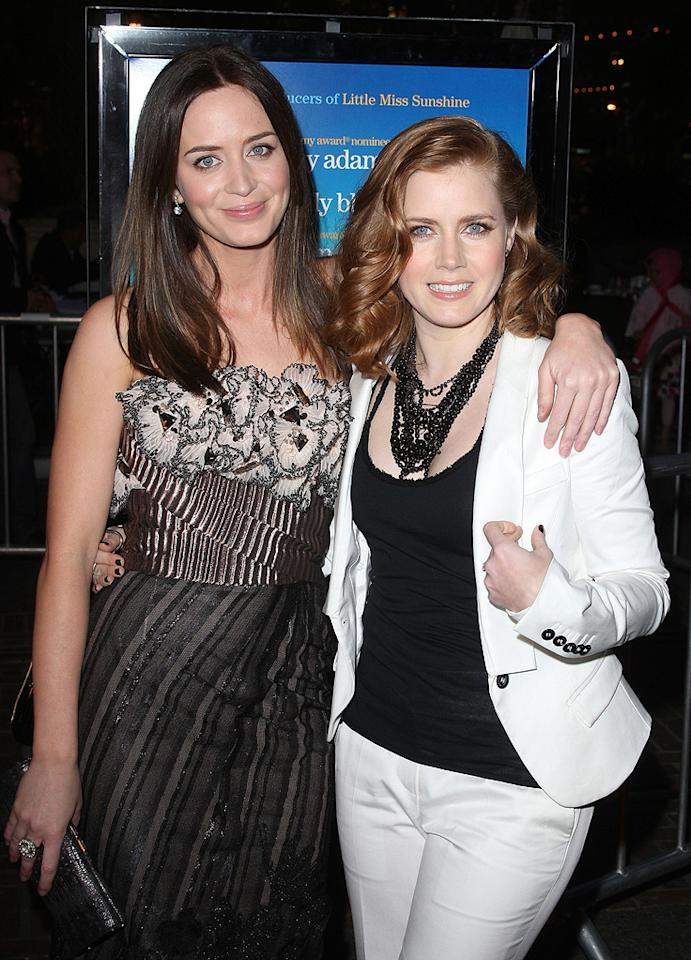 "<a href=""http://movies.yahoo.com/movie/contributor/1808577445"">Emily Blunt</a> and <a href=""http://movies.yahoo.com/movie/contributor/1800018895"">Amy Adams</a> at the Los Angeles premiere of <a href=""http://movies.yahoo.com/movie/1809823943/info"">Sunshine Cleaning</a> - 03/09/2009"