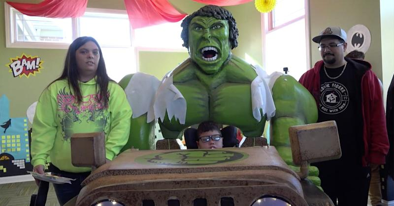High School Students Band Together to Make Hulk Costume for 4-Year-Old Boy with Cerebral Palsy