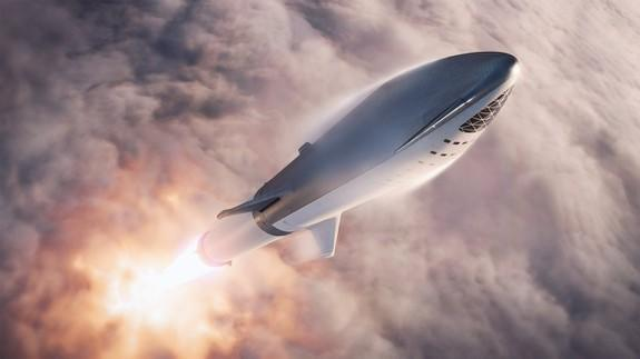 Elon Musk tweets new images of SpaceX's forthcoming BFR spacecraft