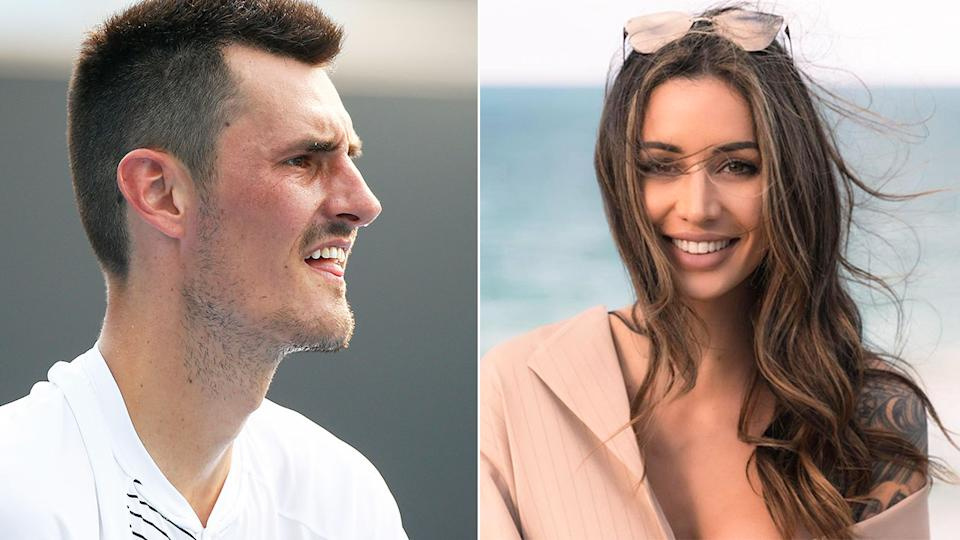 Tennis star Bernard Tomic is pictured here alongside girlfriend Vanessa Sierra.
