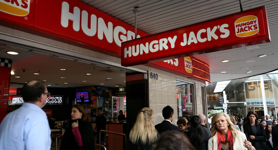 Hungry Jacks store pictured.