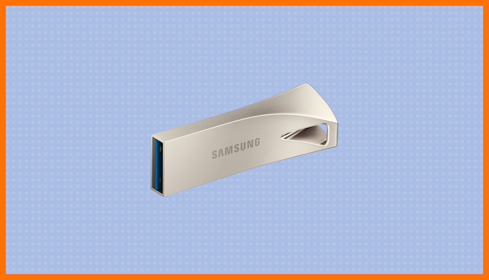 Save 50 percent—Samsung BAR Plus USB 3.1 Flash Drive (128GB). (Photo: Amazon)