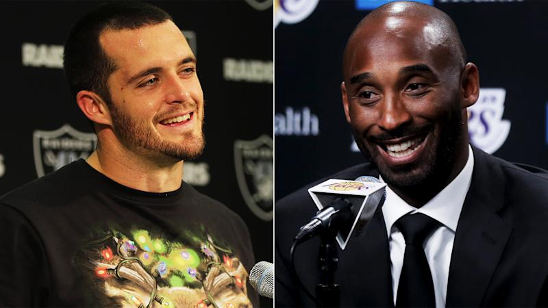 1a96dda4df8f Can Kobe Bryant save the Lakers  Derek Carr really wants it to happen