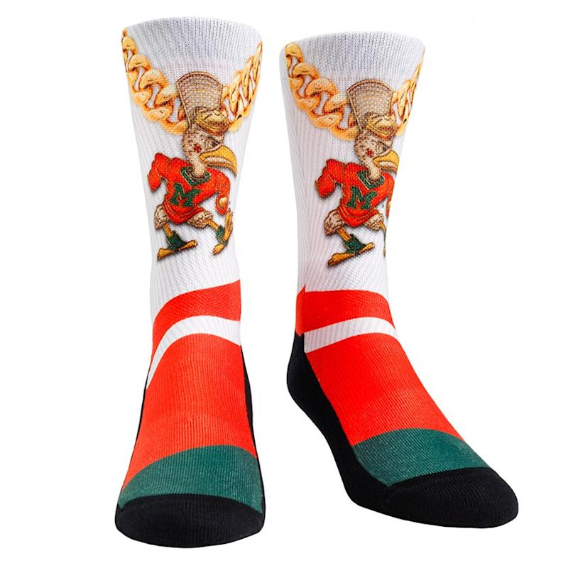 Miami Hurricanes Turnover Chain Crew Socks
