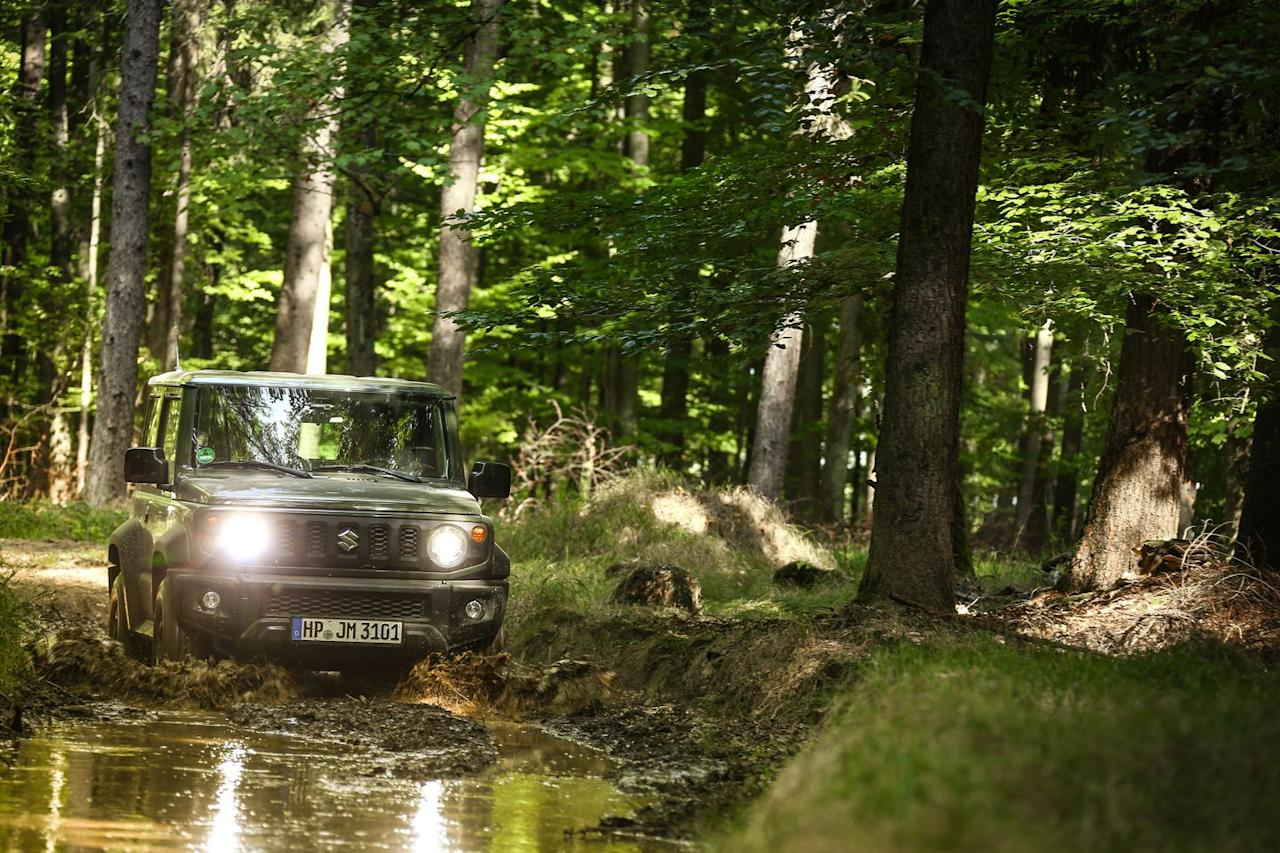<p>With the footprint of a Fiat 500 and the height of an SUV, the Suzuki Jimny is highly maneuverable around town but rather ungainly at higher speeds.</p>