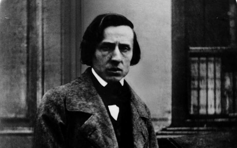 A daguerrotype of the composer Chopin shortly before his 1849 death - Getty