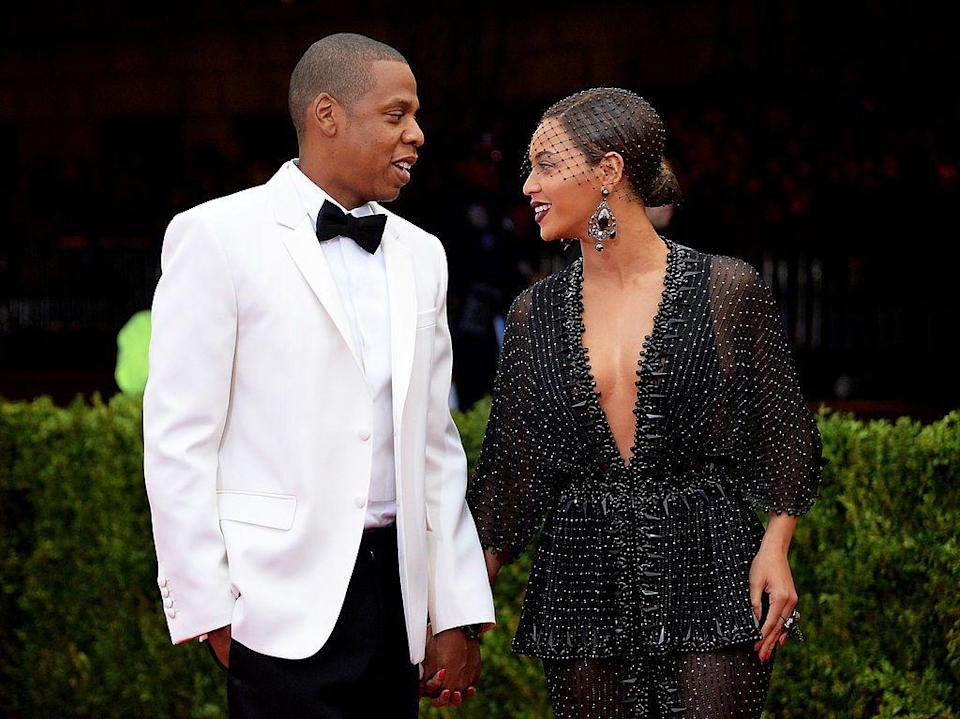 <p>Bey and Jay-Z walked the pink carpet at the Met Gala in 2014 where the theme was 'Charles James: Beyond Fashion'. </p>
