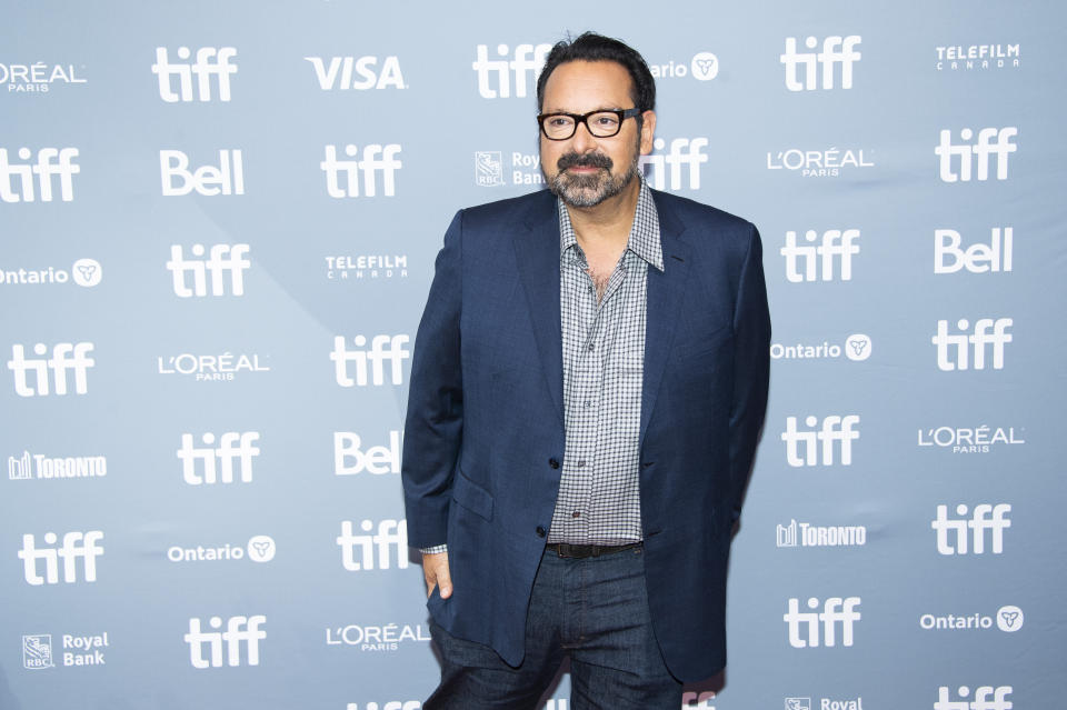 """Director James Mangold attends a press conference for """"Ford v Ferrari"""" on day six of the Toronto International Film Festival at the TIFF Bell Lightbox on Tuesday, Sept. 10, 2019, in Toronto. (Photo by Arthur Mola/Invision/AP)"""