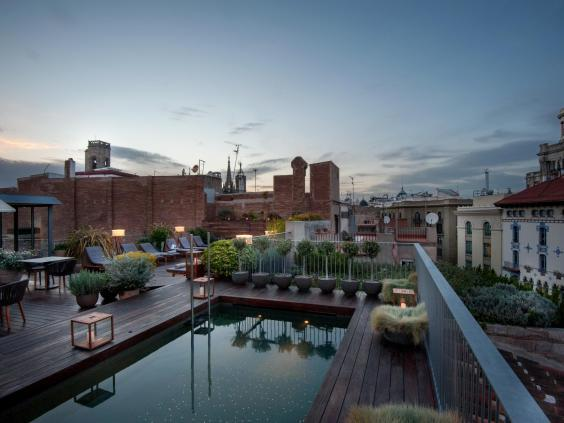 Relax in the Mercer's rooftop pool (Mercer Hotel)