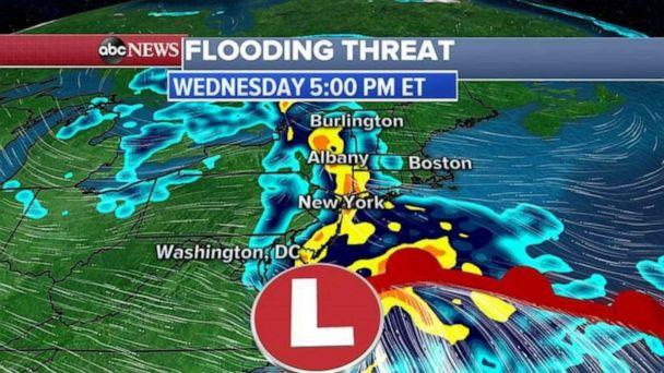 PHOTO: In the next 48 hours, parts of the South could see up to 4 inches of rain which could cause flash flooding in some areas. (ABC News)