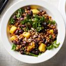 <p>Wheat berries give this healthy grain-salad recipe a toothsome bite. The chopped kale can be swapped for any dark leafy green, such as spinach or chard, if desired.</p>