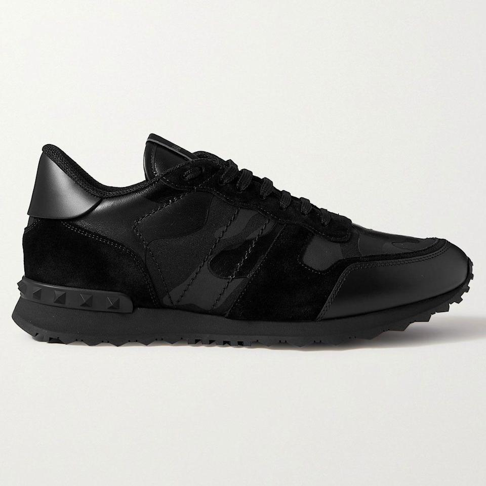 """<p><strong>Rockrunner Sneakers</strong></p><p>mrporter.com</p><p><strong>$790.00</strong></p><p><a href=""""https://go.redirectingat.com?id=74968X1596630&url=https%3A%2F%2Fwww.mrporter.com%2Fen-us%2Fmens%2Fproduct%2Fvalentino%2Fshoes%2Flow-top-sneakers%2Fvalentino-garavani-rockrunner-camouflage-suede-and-leather-trimmed-canvas-sneakers%2F46353151654248400&sref=https%3A%2F%2Fwww.esquire.com%2Fstyle%2Fmens-accessories%2Fadvice%2Fg2538%2Fluxury-sneaker-brands-worth-spending-money%2F"""" rel=""""nofollow noopener"""" target=""""_blank"""" data-ylk=""""slk:Shop Now"""" class=""""link rapid-noclick-resp"""">Shop Now</a></p><p>While minimalist kicks and ultra-chunky sneakers have been enjoying dual heydays over the past few years, the classic runner in all its iterations has had a somewhat tougher time. Or at least it did, for a while, until Valentino came along with its take on the style, turning silhouettes like the Rockrunner into sellout-worthy hits. Past versions have been quiet, loud, and everywhere in between, but right now, a tonal black camo feels just right. </p>"""