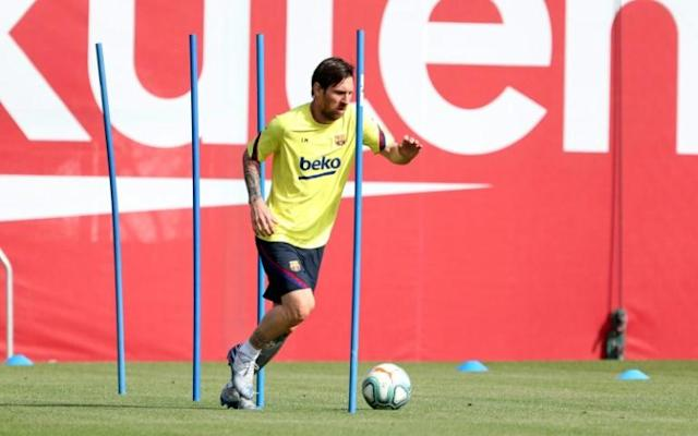La Liga clubs can expand training sessions to up to 10 players ahead of proposed June restart (AFP Photo/Miguel RUIZ)