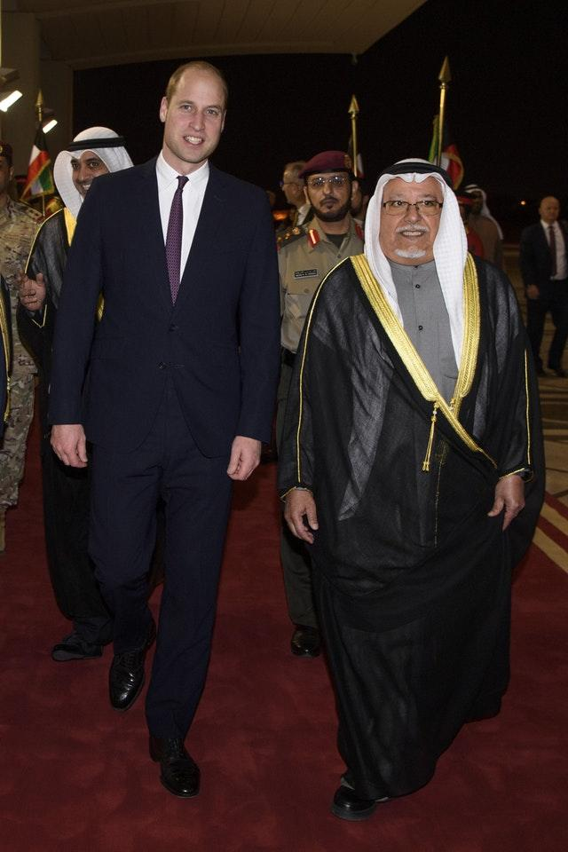 Royal tour of Kuwait and Oman – Day 1