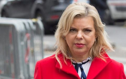 Sara Netanyahu, the prime minister's wife, was questioned several times as part of the investigation - Credit: EPA/GEOFFROY VAN DER HASSELT