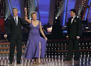 """<p>Cloris lit up the dance floor in season 7, but the actress wasn't always welcome in the ballroom. In an awkward reveal, Cloris told <a href=""""https://www.nytimes.com/2008/10/20/arts/television/20clor.html?mcubz=0"""" rel=""""nofollow noopener"""" target=""""_blank"""" data-ylk=""""slk:The New York Times"""" class=""""link rapid-noclick-resp""""><em>The New York Times</em></a> that she was turned down—twice!—by ABC, because of her age.</p>"""