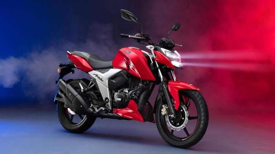 2021 TVS Apache RTR 160 4V motorbike unveiled in Bangladesh