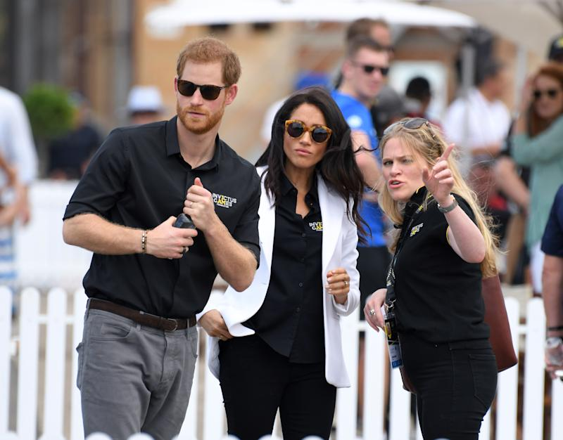 Nearly  there! Meghan Markle is officially on maternity leave