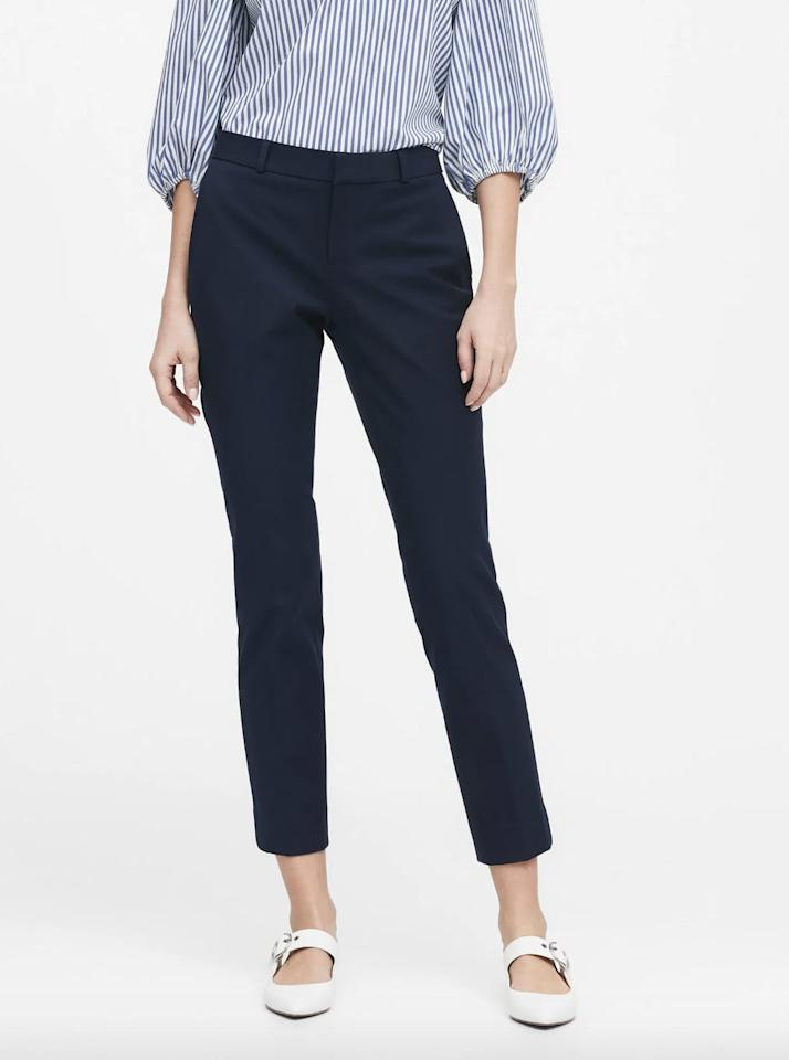 "<p>These <a href=""https://www.popsugar.com/buy/Banana-Republic-Ryan-Slim-Straight-Fit-Washable-Pants-540445?p_name=Banana%20Republic%20Ryan%20Slim%20Straight-Fit%20Washable%20Pants&retailer=bananarepublic.gap.com&pid=540445&price=90&evar1=fab%3Auk&evar9=45887134&evar98=https%3A%2F%2Fwww.popsugar.com%2Ffashion%2Fphoto-gallery%2F45887134%2Fimage%2F47111324%2FBanana-Republic-Ryan-Slim-Straight-Fit-Washable-Pants&list1=shopping%2Cwinter%2Cpants%2Cspring%2Ctrousers%2Cspring%20fashion%2Cwinter%20fashion%2Cfashion%20shopping&prop13=api&pdata=1"" rel=""nofollow"" data-shoppable-link=""1"" target=""_blank"" class=""ga-track"" data-ga-category=""Related"" data-ga-label=""https://bananarepublic.gap.com/browse/product.do?pid=555378012&amp;cid=1050786&amp;pcid=67595&amp;vid=1&amp;grid=pds_43_458_1#pdp-page-content"" data-ga-action=""In-Line Links"">Banana Republic Ryan Slim Straight-Fit Washable Pants</a> ($90) are great for traveling.</p>"