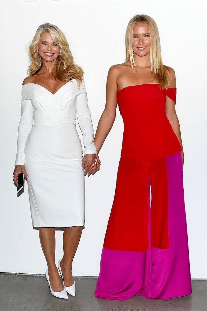 Christie Brinkley and Sailor Brinkley Cook at the Cushnie fashion show in September 2018.