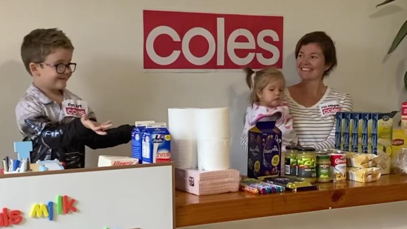 Family's heartwarming plan to brighten their self-isolation with 'trip to Coles'. Source: Facebook