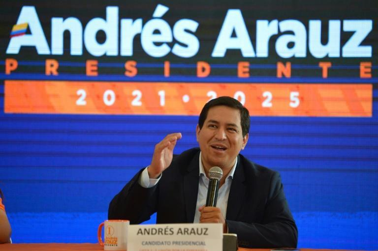 Economist Andres Arauz is a protege of leftist former president Rafael Correa, who remains popular in Ecuador