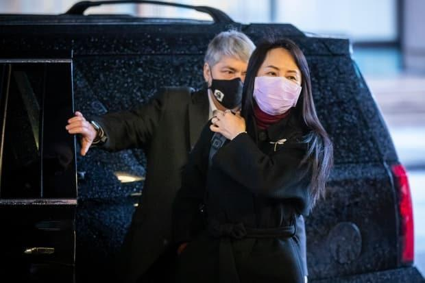 Huawei chief financial officer Meng Wanzhou arrives at the B.C. Supreme Court in Vancouver as her lawyers continue to fight against her extradition to the United States. (Ben Nelms/CBC - image credit)