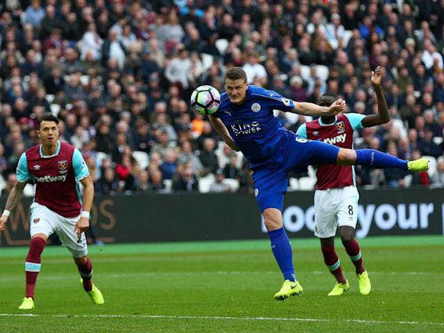 Huth's header doubled Leicester's advantage (Getty)