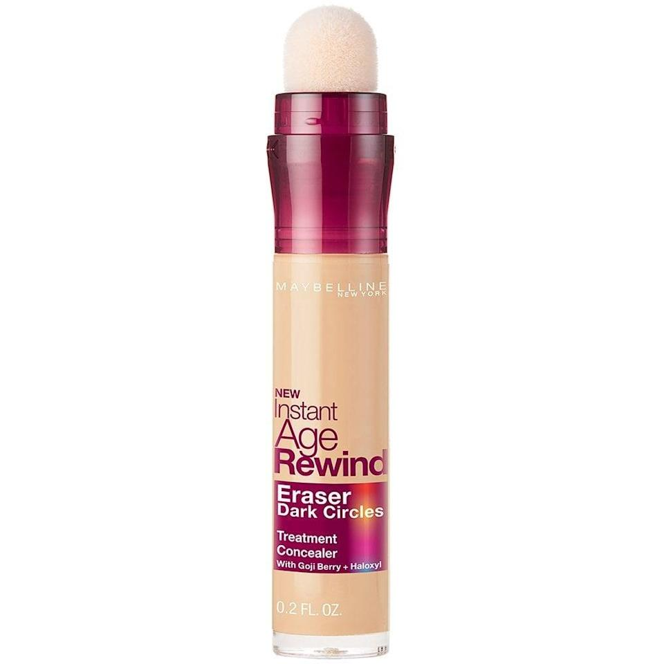 """<p>""""I tried this <span>Maybelline Makeup Instant Age Rewind Concealer</span> ($8) and immediately fell in love with it. This pick is a bestseller on Amazon, and for good reason. <a href=""""https://www.popsugar.com/beauty/Maybelline-Makeup-Instant-Age-Rewind-Concealer-Review-44843248"""" class=""""link rapid-noclick-resp"""" rel=""""nofollow noopener"""" target=""""_blank"""" data-ylk=""""slk:The superconcentrated formula"""">The superconcentrated formula</a> is infused with goji berry to brighten and illuminate the under-eye area while it covers up your dark circles. The soft, spongy applicator allows the formula to glide on smoothly; the product is evenly distributed across your skin. After a couple swipes, I simply tap the concealer with my finger until it's fully blended. You would never know I have rings under my eyes because they vanish instantly."""" - MCW</p>"""