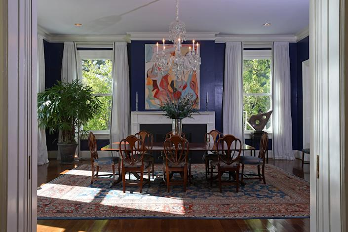 The dining room in the vice president's official residence