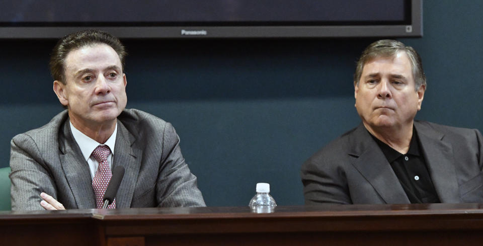Neither Rick Pitino nor Tom Jurich claim knowledge of any wrongdoing at Louisville. (AP)