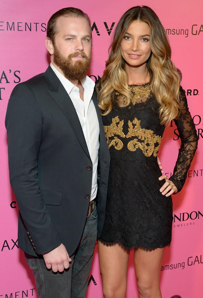 NEW YORK, NY - NOVEMBER 07:  Musician Caleb Followill of Kings of Leon (L) and model Lily Aldridge attend the after party for the 2012 Victoria's Secret Fashion Show at Lavo NYC on November 7, 2012 in New York City.  (Photo by Michael Stewart/FilmMagic)