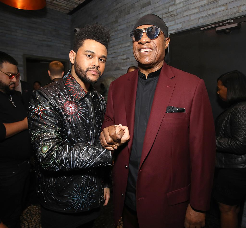 <p>The Weeknd hung out with the legendary Stevie Wonder at hot spot Catch LA. Later, he reportedly caught up with new love Selena Gomez at 1OAK on the Sunset Strip. Ah, the busy life of a celebrity! (Photo: Rachel Murray/Getty Images for Republic Records) </p>