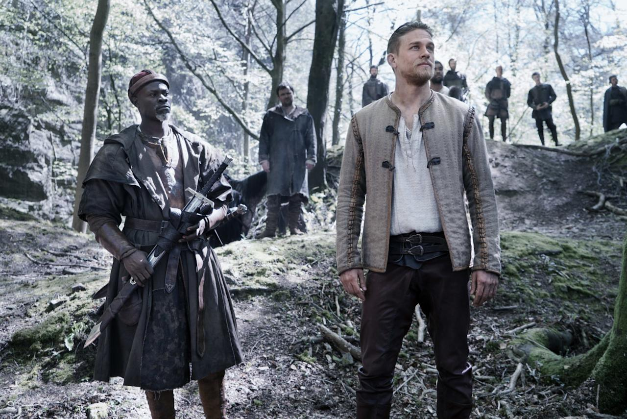 <p>Guy Ritchie tries his hand at medieval legend, with Charlie Hunnam as the rough diamond who pulls the sword from the stone. (Credit: Warner Bros) </p>