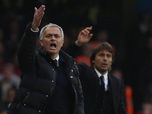 Jose Mourinho has tested Antonio Conte all season long with comments about his 'idea of football': Getty